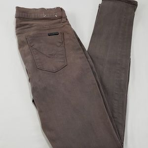 Hudson Jeans Brown Colette Mid Rise Skinny Pants